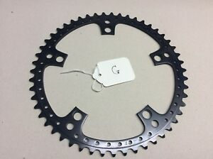 NOS 51T 144 BCD DRILLED CHAINRING FIT CAMPAGNOLO ROAD RACING BIKE (G) Black