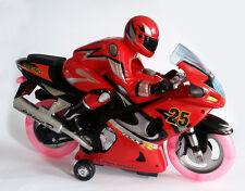 Nuevo una rápida velocidad de Radio Control Remoto Luz Intermitente ruedas moto música y Reino Unido