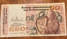 IRELAND 1991 B SERIES £50 (CAROLAN) BANKNOTE