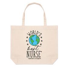 au monde meilleur infirmière Grand Plage SAC FOURRE-TOUT - CADEAU AMUSANT épaule
