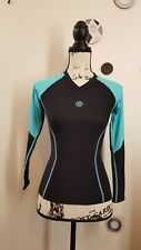 SKINS She Black/ Blue Top Long Sleeve Women Compression Top Size XS
