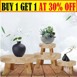 Wooden Plant Pot Stand Indoor Outdoor Garden Flower Planter Display Holder GA
