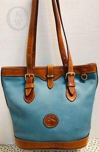 ~Vtg*Remake*Dooney & Bourke~Light Blue*Bucket Bag 19062D S32- Mfg. 2005-2008