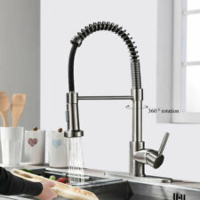 Kitchen Sink Faucet Pull Down Sprayer Brushed Nickel Mixer Tap With 10