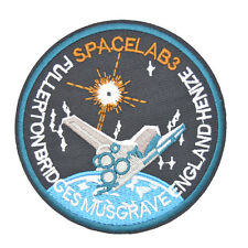 """NASA Space Lab3 Embroidered Patch Fabric Iron Sew On Appliques 3.5"""""""