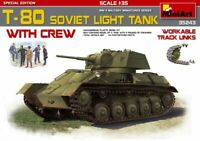 Miniart 35243 Soviet Light Tank T-80 With Crew. 1/35 Scale Special Edition Kit