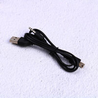 2X USB2.0 Mini B Male to A Male+ 3.5mm Audio Adapter AUX Charger Y Cable BlackBC