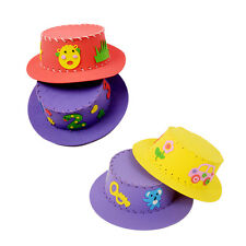 XD#3 Cute Creative Handmade EVA Sun Cap DIY Hat Kids Craft Toy Kits