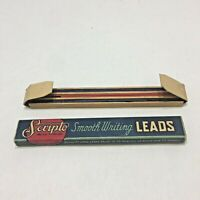Vintage Scripto Smooth Writing Long Leads Package and Blue Red Leads