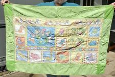 Quilted Baby Blanket Dinosaur Train Alphabet Green Sand Dollar Quilters