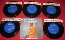 "HANK BALLARD & MIDNIGHTERS  7""JUKEBOX SET 1960 KING S-7 1619-1623 33 RPM RARE!!"