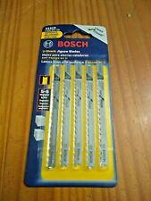 "Bosch U101D 3-5/8"" x 5 - 6 TPI HCS U-Shank Jigsaw Blade 5 Pack"