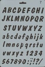 Plastic A4 stencil with useful letters and numbers