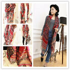 Lovely Lady Women's Fashion Long Big Soft Cotton Voile Scarf Shawl Wrap Red Hot