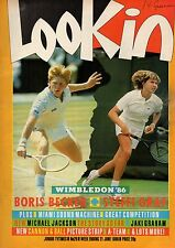 Look-In Magazine 21 June 1986   Boris Becker & Steffi Graf   Miami Sound Machine