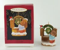 """Hallmark Keepsake """"Welcome Sign"""" Ornament Handcrafted-Dated 1996 Christmas Gift"""