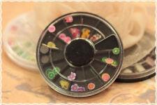 confezione nera rotonda 12 scomparti canes tagliate per fimo nail art miste fimo