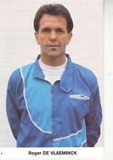 CYCLISME carte manager ROGER DE VLAEMINCK équipe HITACHI 1989
