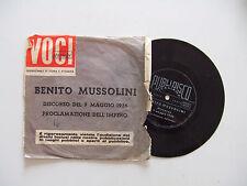 """Benito Mussolini – Discorso Del 9 Maggio 1936 -Disco Flexi Vinile 33 Giri 7"""""""