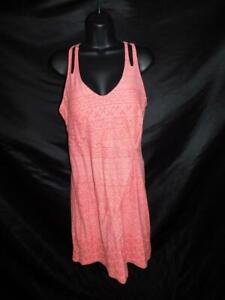Athleta M Watermelon Pink Knotted Nanda Dress Sleeveless Padded Bra Top Md
