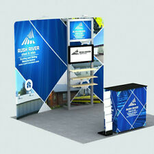 10ft custom fabric trade show display booth exhibit TV bracket pop up stand