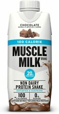 🔥 MUSCLE MILK 100 CALORIE SHAKE 20g PROTEIN CHOCOLATE 24 Count 11 OZ EACH