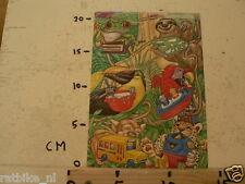 STICKER,DECAL SHEET TUPPERWARE WITH 6 STICKERS, KIKKER,PAPAGAAI,TOEKAN,AAP,ETC