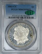 1883-CC $1 PCGS / CAC MS63DPL MORGAN DOLLAR ~ HIGH-END & EXCEPTIONAL MIRRORS!