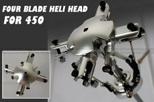 4 Lame FBL Flybarless Main Rotor Head for Align T-rex 450 Helicopter