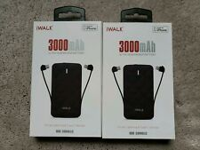 Lot of 2 iWALK Duo 3000mAh Portable External Charge Battery Lightning Micro USB