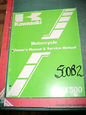 KAWASAKI KX500-B2 ORIGINAL MOTORCYCLE OWNERS & SERVICE MANUAL excellent