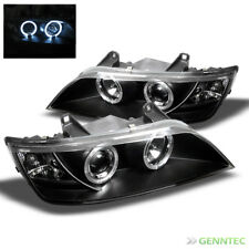 For 1996-2002 BMW Z3 Twin Halo Projector Headlights Blk Head Lights Lamp Pair