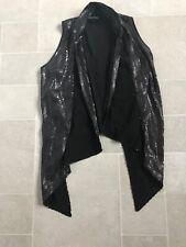 NwOT warehouse Noughties black Crepe sequin waistcoat Uk10 Instagram Festival