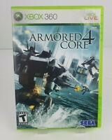Armored Core 4 (Microsoft Xbox360, 2007) Complete