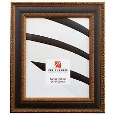 "Craig Frames Galerie, 1.75"" Antique Gold and Black Picture Frame"