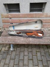 alte sächsisch- böhmische Manufaktur 4/4 Geige im guten Zustand ?? mit Koffer