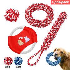 Large Dog Toys 4pcs Indestructible Pet Dog Chew Toys Ball Fun Rope Fetch Toy Set