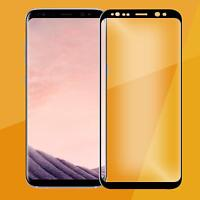 3D Curved Glasfolie für Samsung Galaxy S8 Glas FULL SCREEN Glas Folie Schwarz
