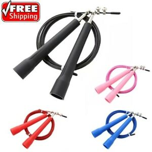 Speed Jump Skipping Rope Adjustable Wire Ball Bearing Gym Boxing Exercise Yoga