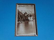 CHROMO PHOTO CHOCOLAT SUCHARD 1934 EUROPE SUISSE SCHWEIZ SVIZZERA CHILLON