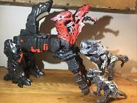 Transformers The Last Knight Grimlock & Mega 1 Dragonstorm Turbo Changer Figures