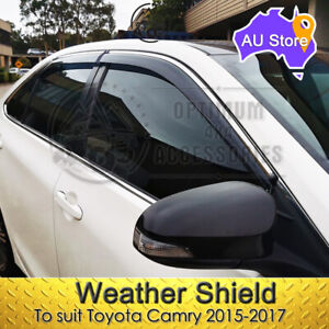 Weather shields Window Visors Weathershields Chrome suit Toyota Camry 2015-2017