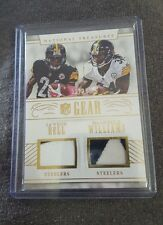 2016 National Treasures Le'Veon Bell DeAngelo Williams dual jersey patches 2/25