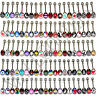 W100 Metal Tongue Rings Steel Bars Barbells Funny Nasty Wording Logo Lot of 30