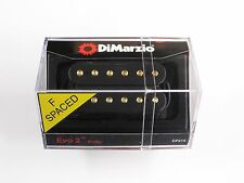 DiMarzio F-spaced Evo 2 Bridge Humbucker Black W/Gold Poles DP 215