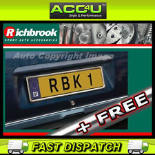 Richbrook Chrome Stainless Steel Single Car Number Plate Surround Frame Holder +