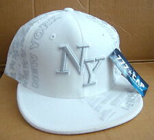New York White w/Silver Trim Sports Ball Cap - sz X-Lg - 777*Cap