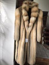 Golden Island Fox Fur Coat ,Size M
