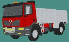 Foden Alpha 4 Wheel Tipper  embroidered on Polo Shirt