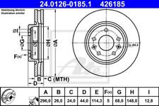2x Bremsscheibe für Bremsanlage Vorderachse ATE 24.0126-0185.1